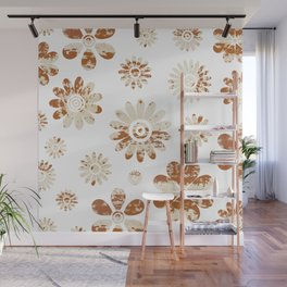 Shabby Flowers Wall Mural