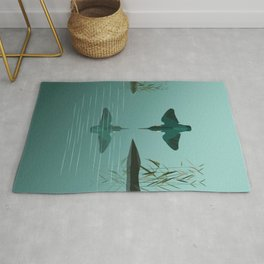 Diving into the water Rug