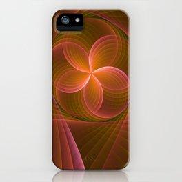 Energy, Fractal Art Pattern iPhone Case