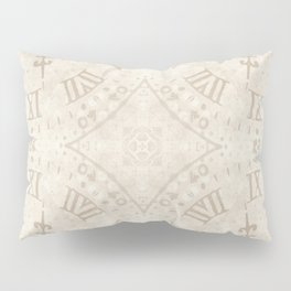 Abstract Roman Numeral SB74 Pillow Sham
