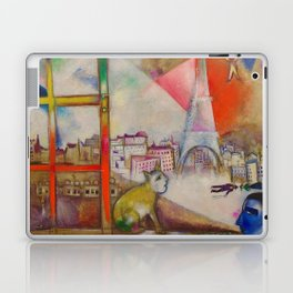 'Paris Through the Window' by Marc Chagall Laptop & iPad Skin