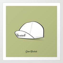 Grimpeur - Bartali cap Art Print