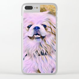 pekingese at the park Clear iPhone Case