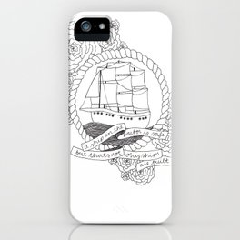 A Ship in the Harbor iPhone Case