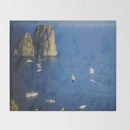 Capri, Amalphi Coast, Italy 7 Throw Blanket