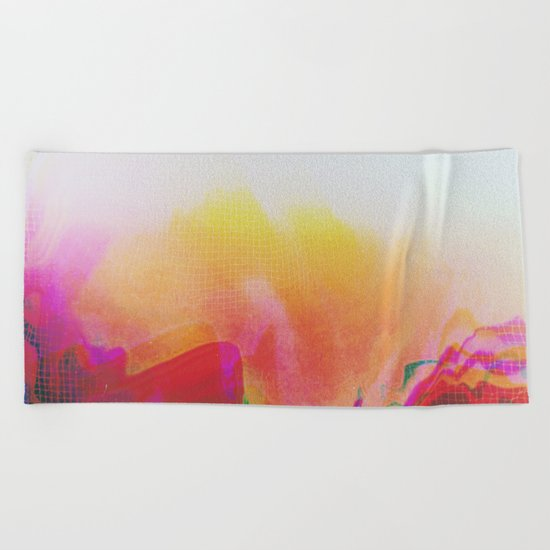 Glitch 20 Beach Towel