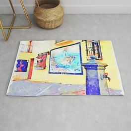 Fountain and murals Rug