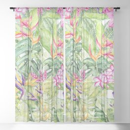Tropical Garden 2 Sheer Curtain