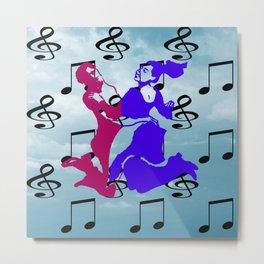 Dancing Metal Print