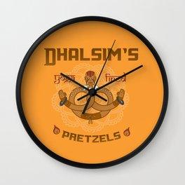 Street Vendor 2- Dhalsim's yoga fired Pretzels Wall Clock
