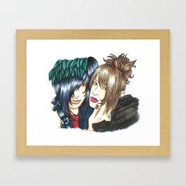 Asagi x Ruiza Framed Art Print