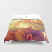 boobs Duvet Covers featuring NUDE BLOND BIG BOOBS LADYKASHMIR HAPPY VALENTINES DAY by ladykashmir goddess