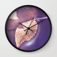 poem Wall Clocks featuring LIGHT POEM by INA FineArt