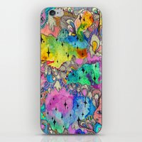 hot fuzz iPhone & iPod Skins featuring Sweet Fuzz by Beverly Salas
