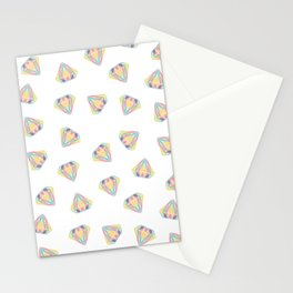 Colorful Diamonds Pattern - gemstones pattern Stationery Cards