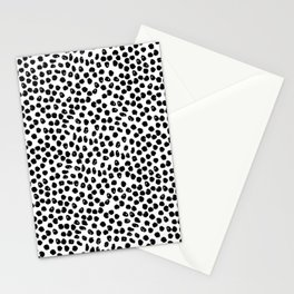 Black and white minimal linocut pattern graphic scandi design Stationery Cards