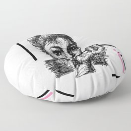 Icons Only - Oneliner edition Floor Pillow