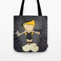 gangster Tote Bags featuring Gangster Style by Jaqueline Teixeira