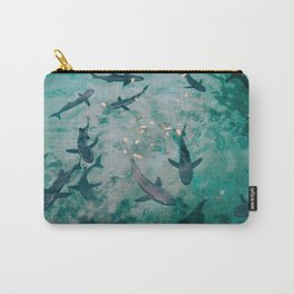 Shoal of Sharks (Color) Carry-All Pouch