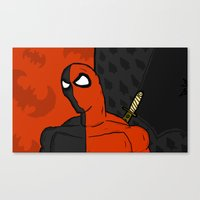 deathstroke Canvas Prints featuring Deathstroke  by Di Leo Comics