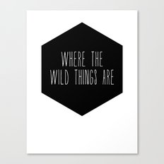 Wild Thing Nursery Print Canvas Print