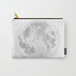 Large White Full Moon Print, by Christy Nyboer Carry-All Pouch