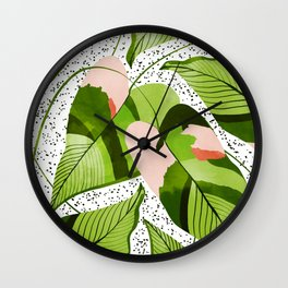Blushing Leaves #illustration #painting Wall Clock