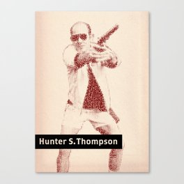 Inspired By Words — Hunter S. Thompson Canvas Print