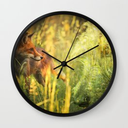 Fox and Hound Wall Clock