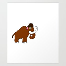 Elephant Large Boar Big Forest Mammal Animal Gift Art Print