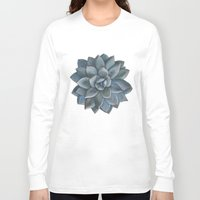 succulent Long Sleeve T-shirts featuring Succulent by Antonina Sotnikova