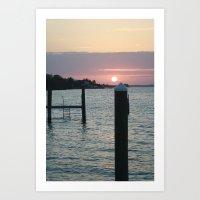 Sunset and the Sea Art Print