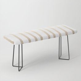 Simply Drawn Vertical Stripes in White Gold Sands Bench
