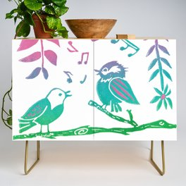 The Littlest Birds Sing the Prettiest Songs Credenza