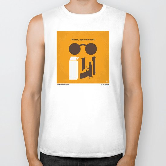 No239 My LEON minimal movie poster Biker Tank