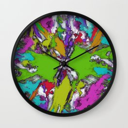 Fractured echoes Wall Clock