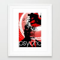 psycho Framed Art Prints featuring psycho by RIGOLEONART