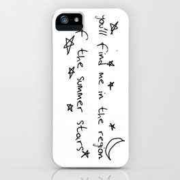 you'll find me in the region of the summer stars (harry) iPhone Case