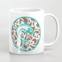 maori Mugs featuring Maori Dolphin by freebornline