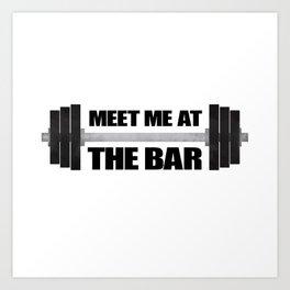 Meet Me At The Bar Art Print