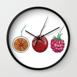 fresh fruit and cocktail rolls Wall Clock