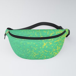 Green Yellow Pixilated Gradient Fanny Pack