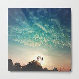 Windmill Sunrise Metal Print