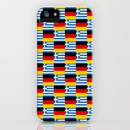 Mix of flag : Germany and greece iPhone Case