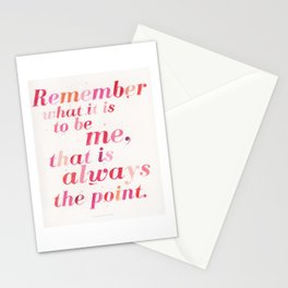 Remember What it is to be Me - Joan Didion Stationery Cards