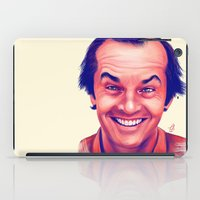 jack nicholson iPad Cases featuring Young Jack Nicholson and the evil smile - digital painting by Thubakabra