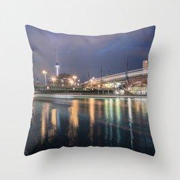Berlin Jannowitzbrücke Throw Pillow