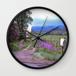 Dames Rocket Ranch by CheyAnne Sexton Wall Clock