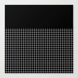 Dotted Grid Boarder Black Canvas Print