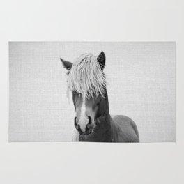 Horse - Black & White Rug
